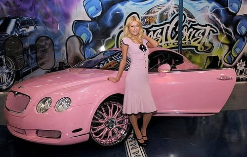 paris Top 5 Female Celebrities With Most Expensive Cars in World