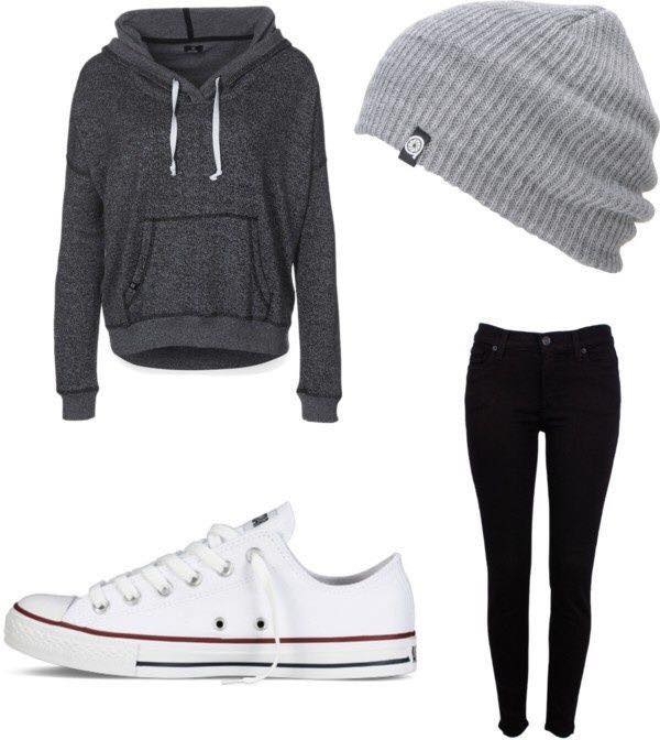 teenage-girls-outfits-with-converse 17 Latest Style Winter Outfit Combinations for Teen Girls