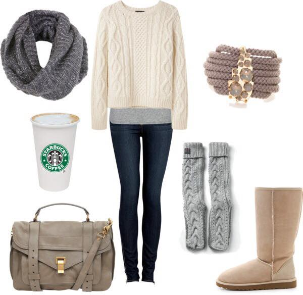 winter-outfits-for-college-girls 17 Latest Style Winter Outfit Combinations for Teen Girls
