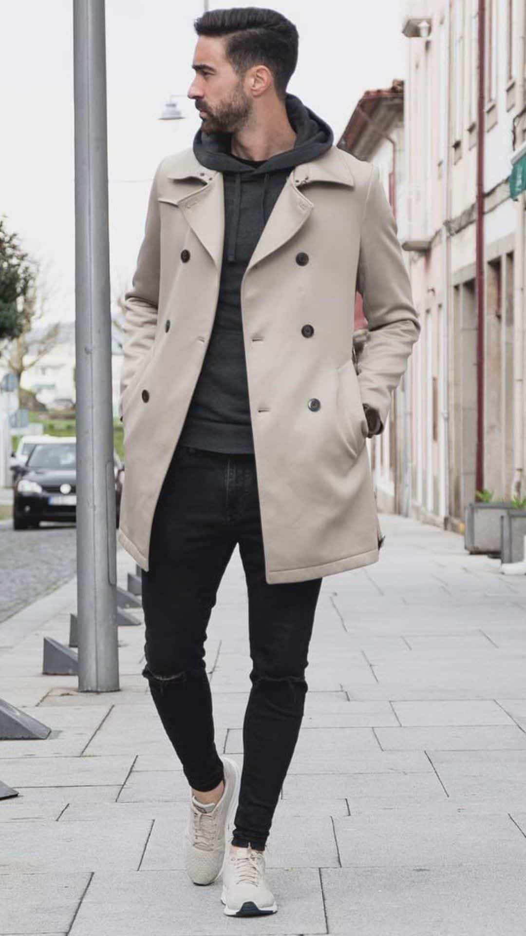 5_Long_coat_outfits_for_men_6 Cute Outfits for Skinny Guys - Styling Tips With New Trends