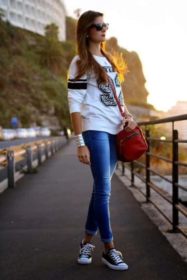 Cute-Outfits-With-Converse Women Sporty Style-30 Ways to Get a Fashionable Sporty Look