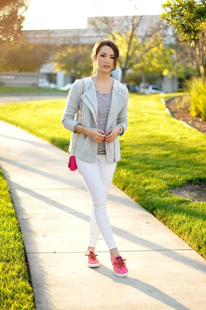 Cute-look-with-Pink-Shoes-680x1024 Cute Pink Outfits-20 Best Dressing Ideas with Pink Outfits