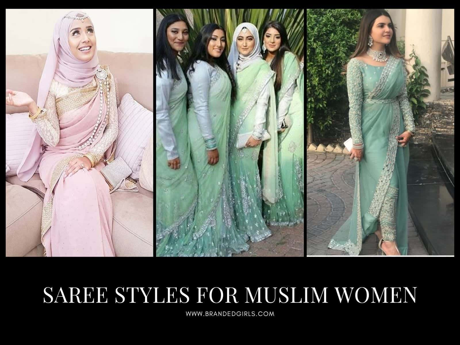 Saree-Styles-for-Muslim-Women 15 Modest and Chic Saree Styles for Muslim Women