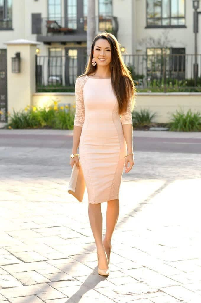Street-Style-with-Pink-Dress-680x1024 Cute Pink Outfits-20 Best Dressing Ideas with Pink Outfits