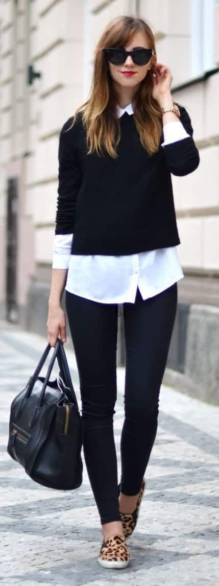 Street-style-with-sweaters 18 Cute Outfits to Wear With Knitwear for Girls this Winter