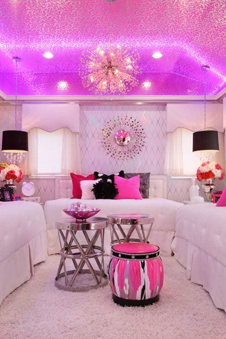 a6694df4c210fc2aad35cea91e725beb 18 Cute Pink Bedroom Ideas for Teen Girls - DIY Decoration Tips
