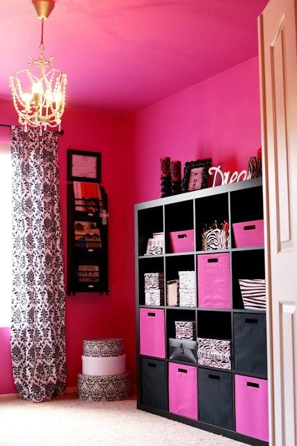 d995f2844fe64dc8c7511bb54ecb336a 18 Cute Pink Bedroom Ideas for Teen Girls - DIY Decoration Tips