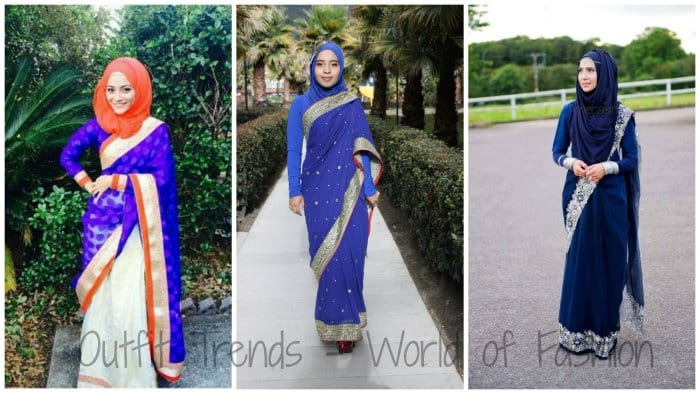 hijab saree designs
