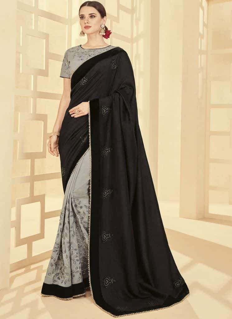 modest-saree-designs-2-745x1024 15 Modest and Chic Saree Styles for Muslim Women