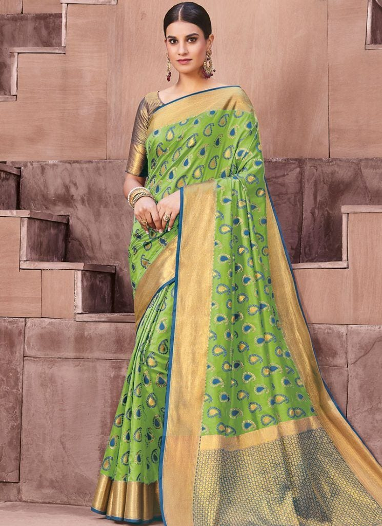 modest-saree-designs-4-745x1024 15 Modest and Chic Saree Styles for Muslim Women