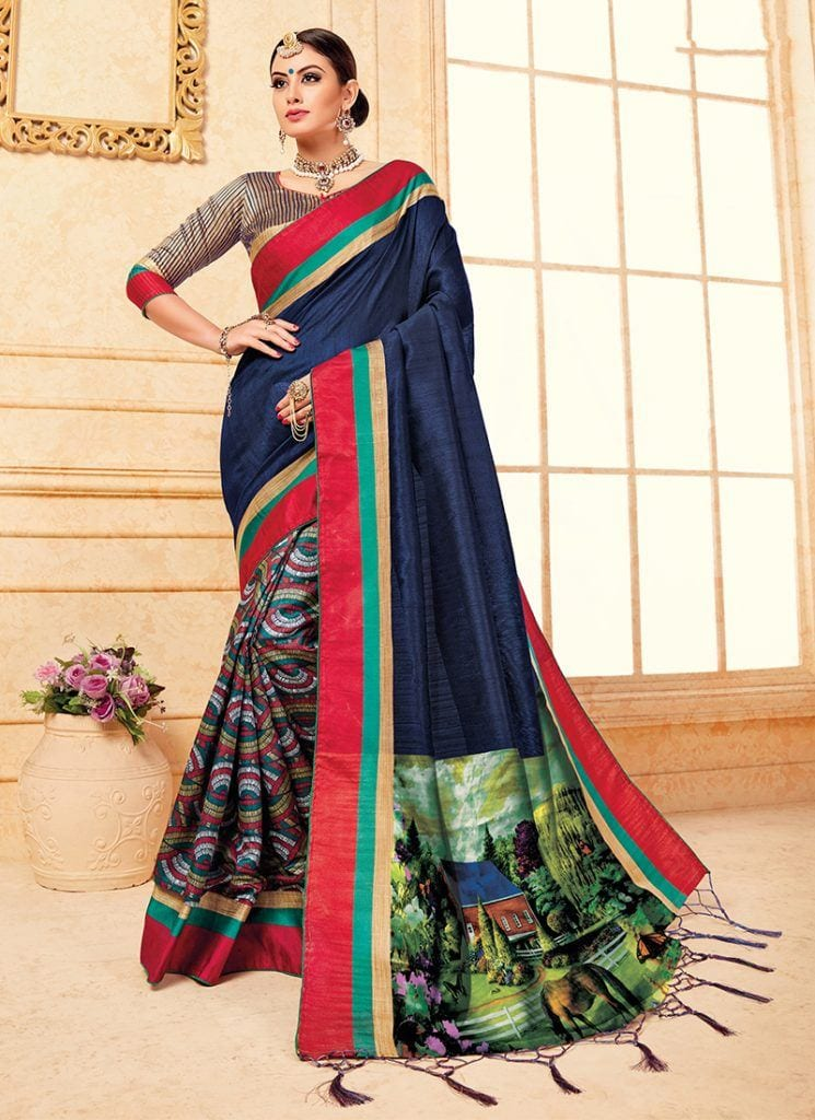 modest-saree-designs-6-745x1024 15 Modest and Chic Saree Styles for Muslim Women