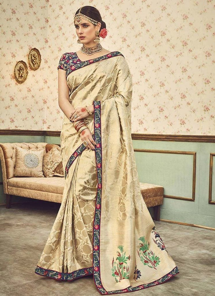 modest-saree-designs-7-745x1024 15 Modest and Chic Saree Styles for Muslim Women