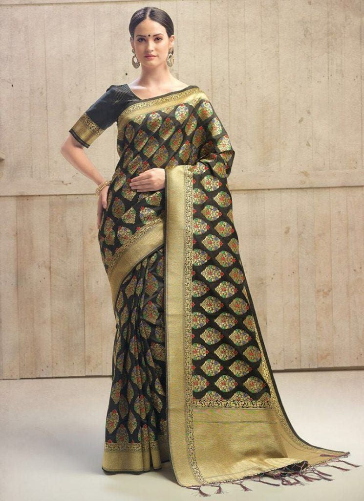 modest-saree-designs-8-745x1024 15 Modest and Chic Saree Styles for Muslim Women