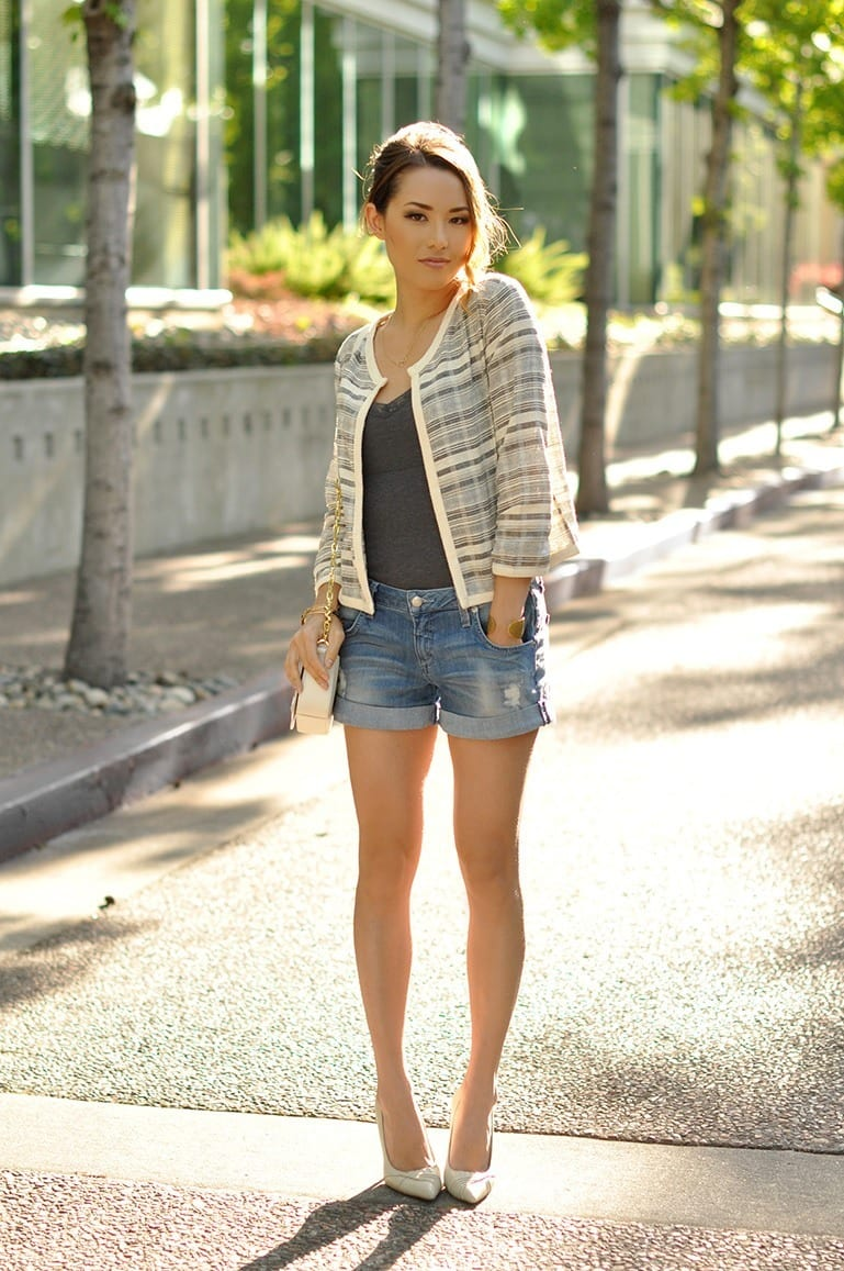 spring-outfits-with-shorts 21 Trending Spring Street Style Outfits for Women This Year