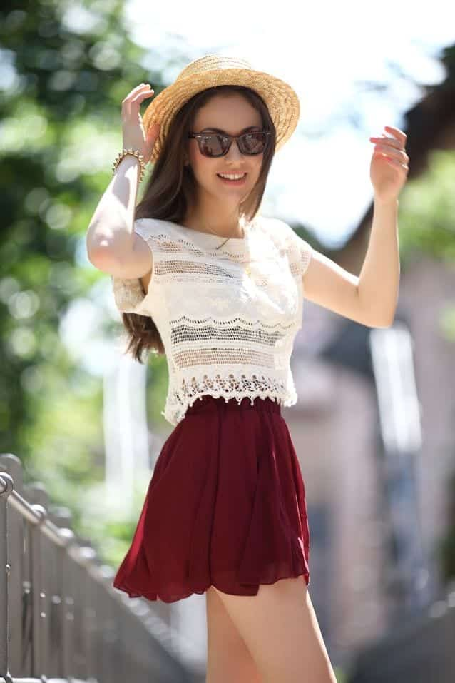 224bb2af8b189e642ced8682c9e59677 Skater Skirts Outfits -20 Ways to Style Skater Skirts for Chic Look
