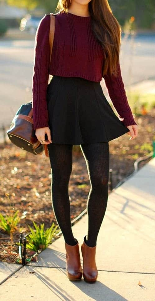 4effae8d5820b551ef09c736705732e9 Skater Skirts Outfits -20 Ways to Style Skater Skirts for Chic Look