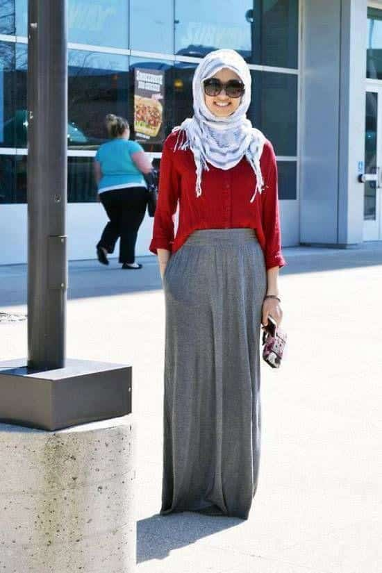 53fc7254bceb9a5e113f9bca4e3d93e0 Hijab Skirt outfits-24 Modest Ways to Wear Hijab with Skirts