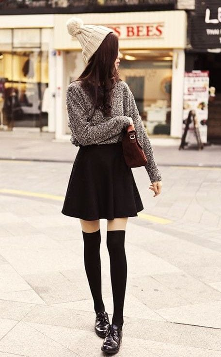9044c6530fbe9a2928f085d16cea02fa Skater Skirts Outfits -20 Ways to Style Skater Skirts for Chic Look