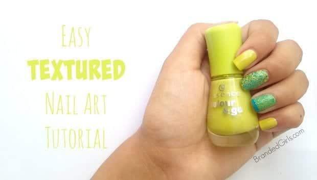 Easy-Textured-Nail-Art-Tutorial-e1439585019773 Easy DIY Textured Nail Art Design - Step by Step Tutorial