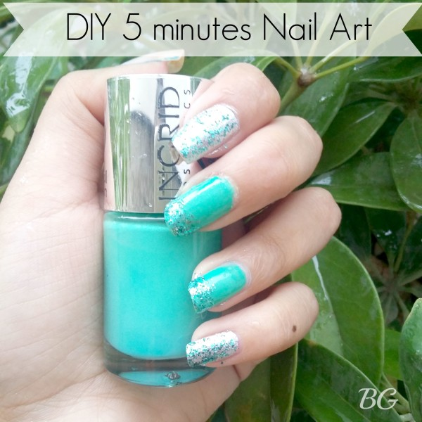 FEATURE-e1438502138349 Nail Art Tutorial - 5 Minutes Easy DIY Nail Art Green Sparkles