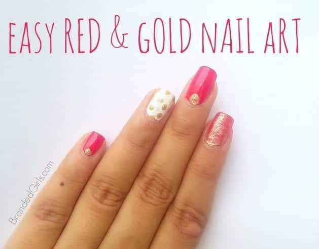 How to add Gold Bling to your Nail Art