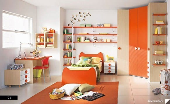 Modern-Kids-Bedroom-582x356 Kids Room Decoration Ideas- 12 DIY Ideas Your Kids will Love