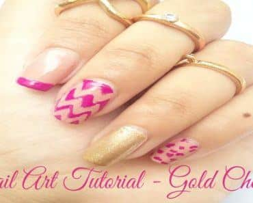 Nail Art Tutorial - Gold Chevron COVER