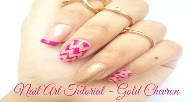 Nail Art Tutorial - Gold Chevron COVER