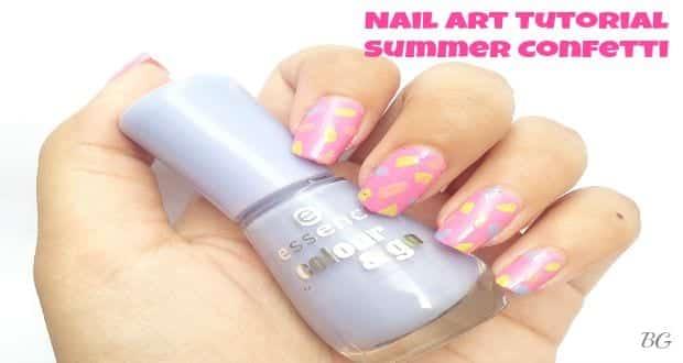 Nail Art Tutorial Summer Confetti