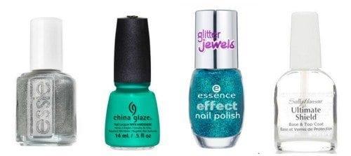 PicMonkey-Collage-500x223 Nail Art Tutorial - 5 Minutes Easy DIY Nail Art Green Sparkles
