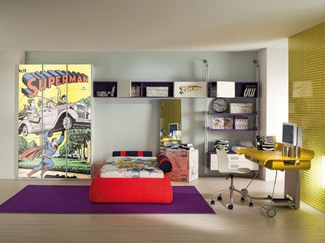Superman-theme-room-665x498 Kids Room Decoration Ideas- 12 DIY Ideas Your Kids will Love