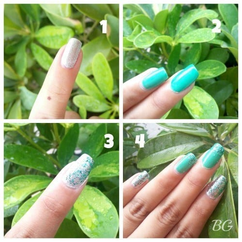 collage-500x500 Nail Art Tutorial - 5 Minutes Easy DIY Nail Art Green Sparkles