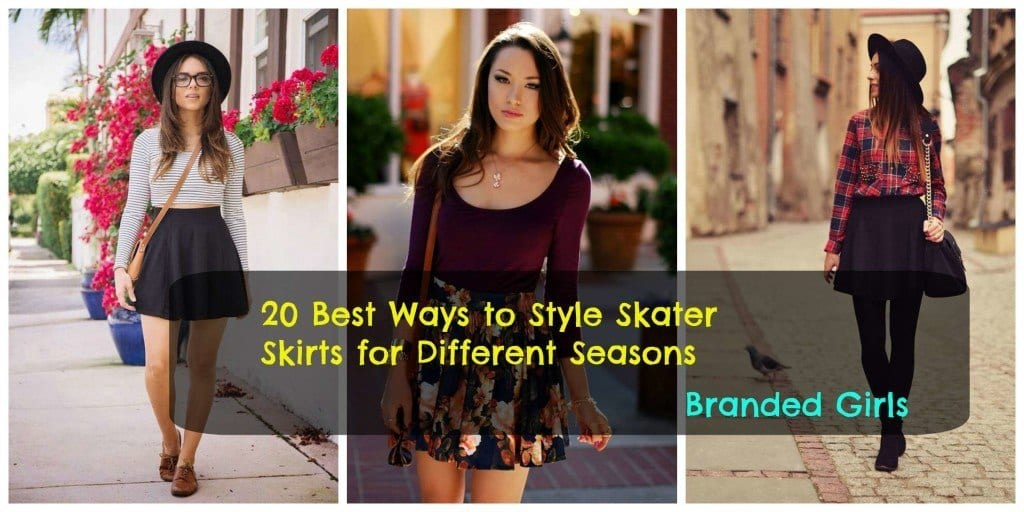 cute-outfits-with-skater-skirts-1024x512 Skater Skirts Outfits -20 Ways to Style Skater Skirts for Chic Look