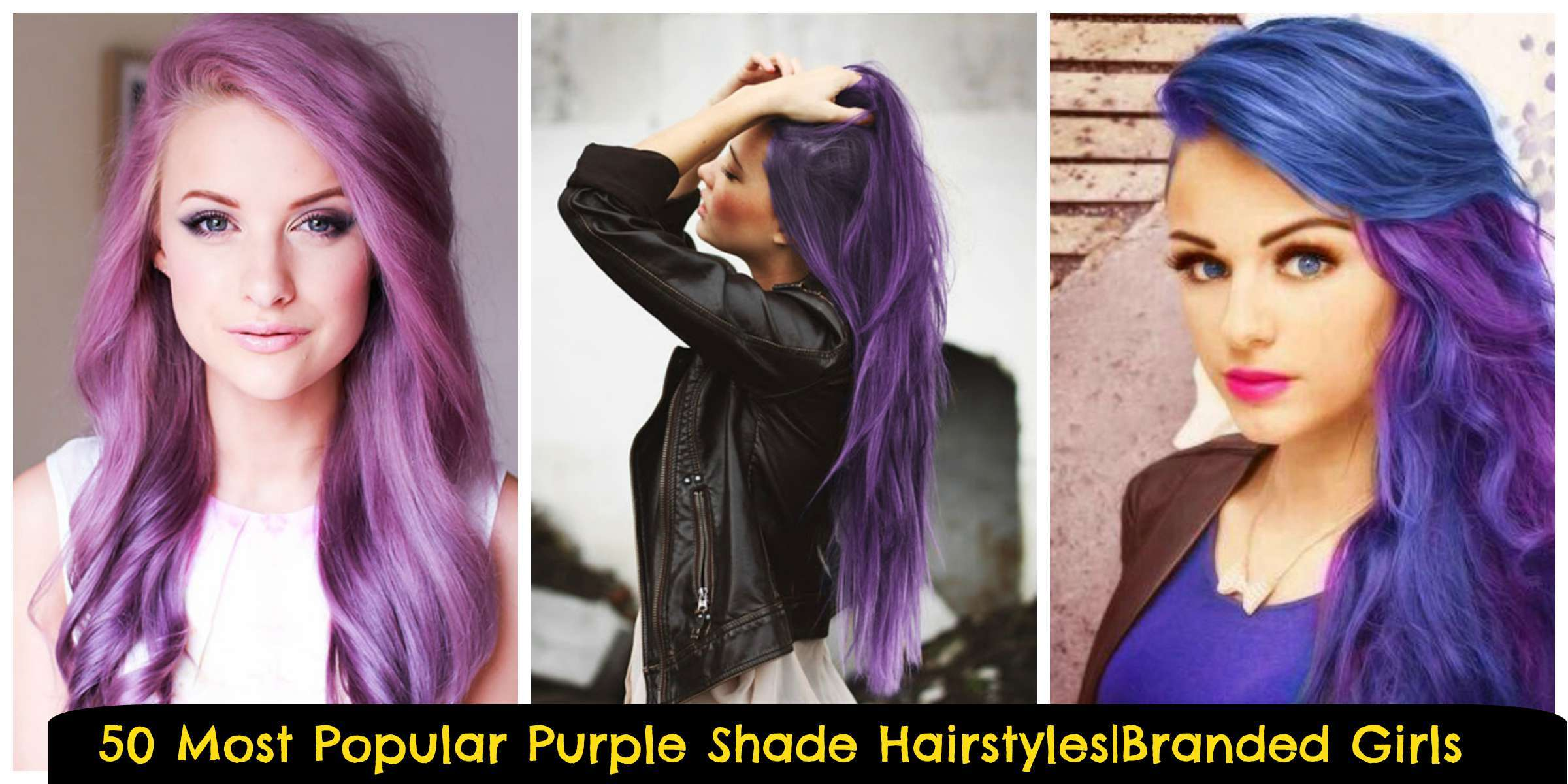 different hairstyles in Purple shades