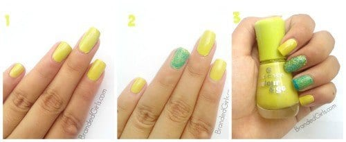 double-trouble-DIY-Nail-Art-tutorial-4--500x205 Easy DIY Textured Nail Art Design - Step by Step Tutorial