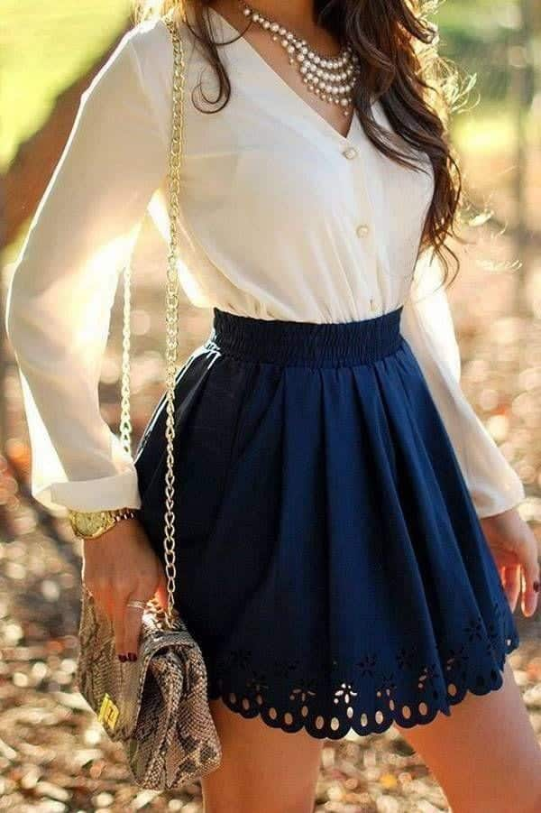 e24505a90a7101647c3012b4bb5a94ab Skater Skirts Outfits -20 Ways to Style Skater Skirts for Chic Look
