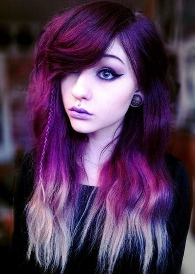 emo-purple-hairstyle Purple Hairstyles- These 50 Cute Purple Shade Hairstyles You Cant Resist Trying