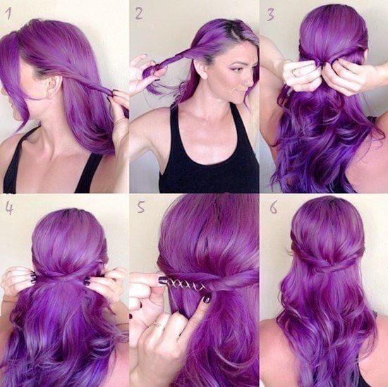 how-to-make-purple-braided-hairstyle Purple Hairstyles- These 50 Cute Purple Shade Hairstyles You Cant Resist Trying