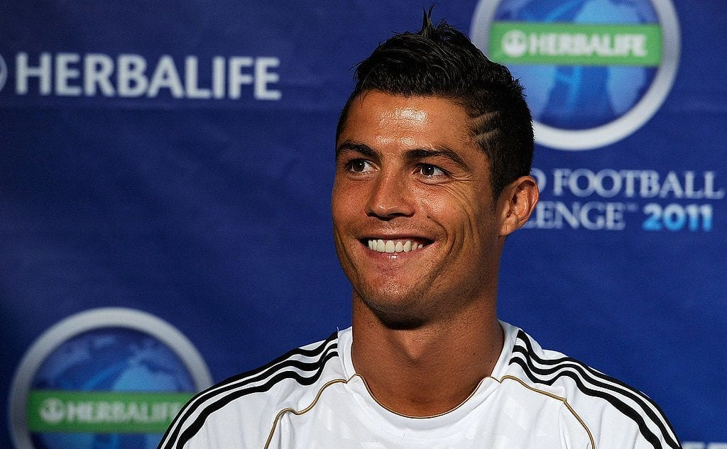 Cristiano-Ronaldo-smiled-photo Cristiano Ronaldo Hairstyles-20 Most Popular Hair Cuts Pics