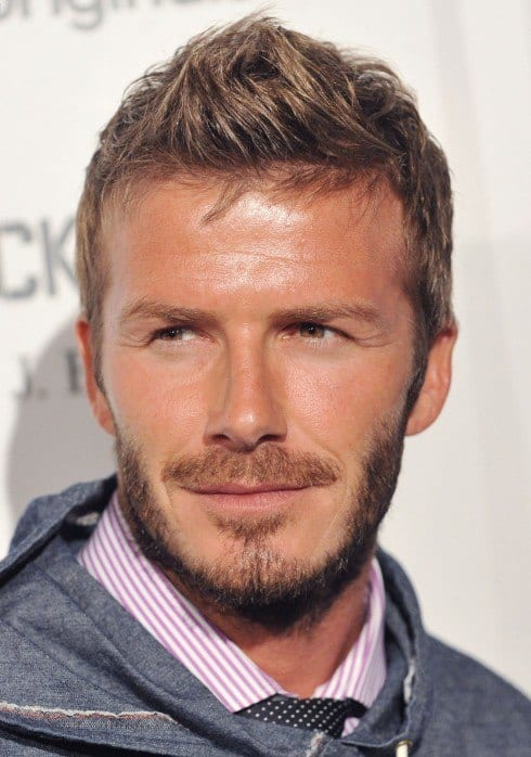 David-Beckham-Faux-Hawk-Haircut David Beckham Hairstyles-20 Most Famous Hairstyles of All the Time