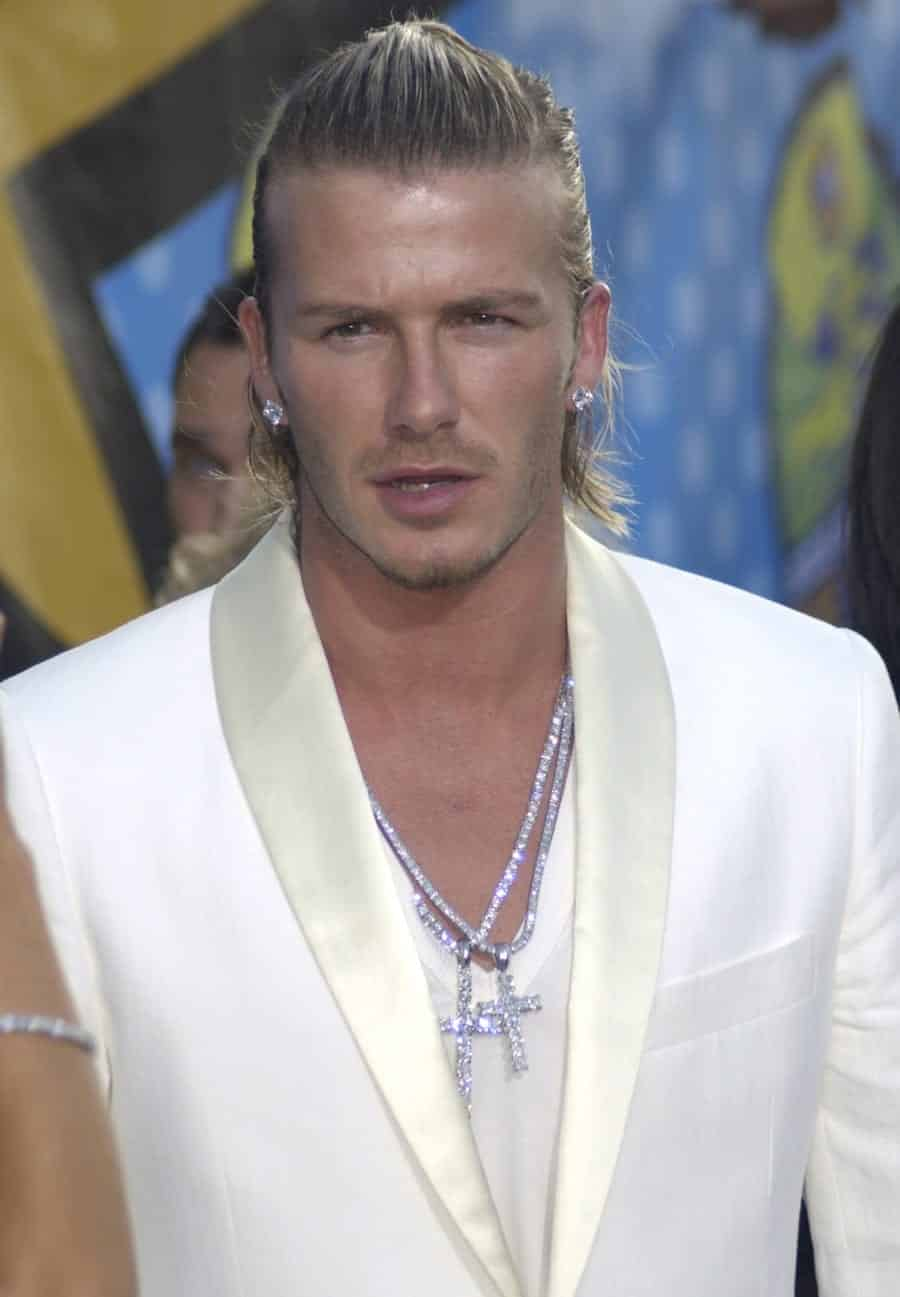 David-Beckham-Hair-Style-Picture-Long-Blond David Beckham Hairstyles-20 Most Famous Hairstyles of All the Time