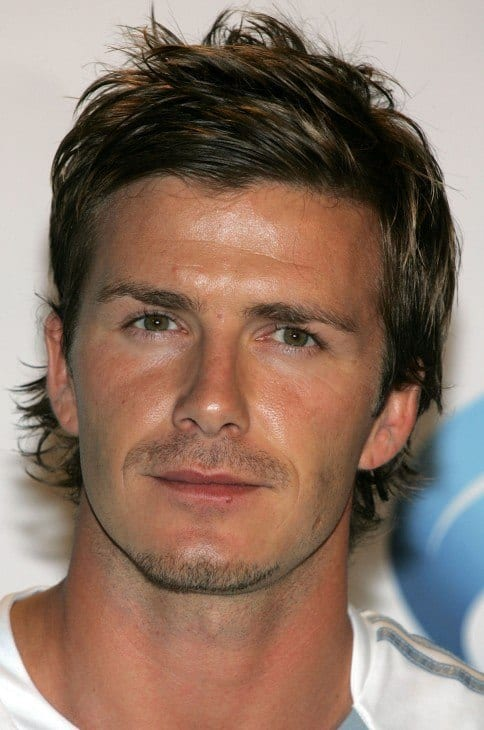 David-Beckham-Layered-Messy-Hairstyle David Beckham Hairstyles-20 Most Famous Hairstyles of All the Time