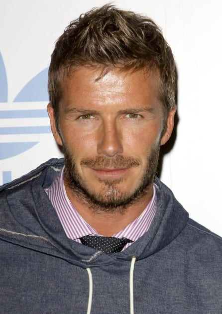 David-Beckham-Short-Faux-Hawk-Haircut-for-Men David Beckham Hairstyles-20 Most Famous Hairstyles of All the Time