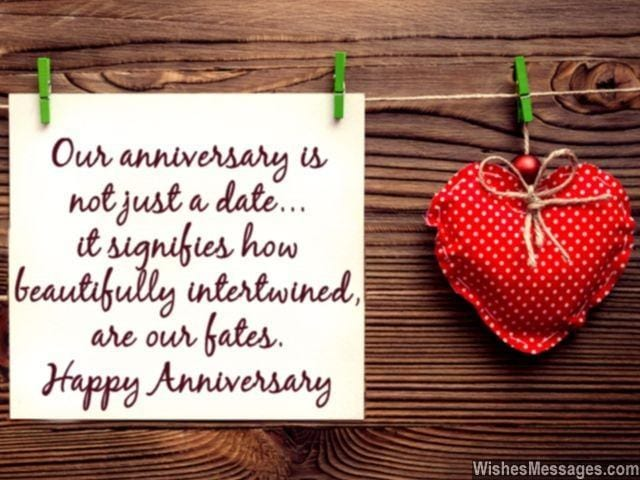 romantic lines for husband on anniversary