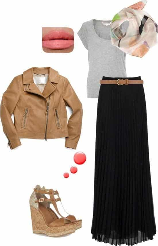 Hijab-outfit-ideas Hijab Skirt outfits-24 Modest Ways to Wear Hijab with Skirts