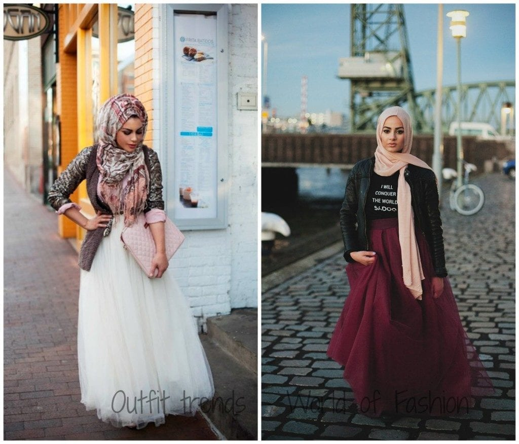 Hijab-with-Skirts1-1024x876 Hijab Skirt outfits-24 Modest Ways to Wear Hijab with Skirts