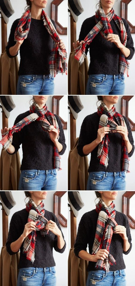 Simple-scarf-tutorails 5 Trendy Scarves Wrapping Styles to Compliment Your Outfit