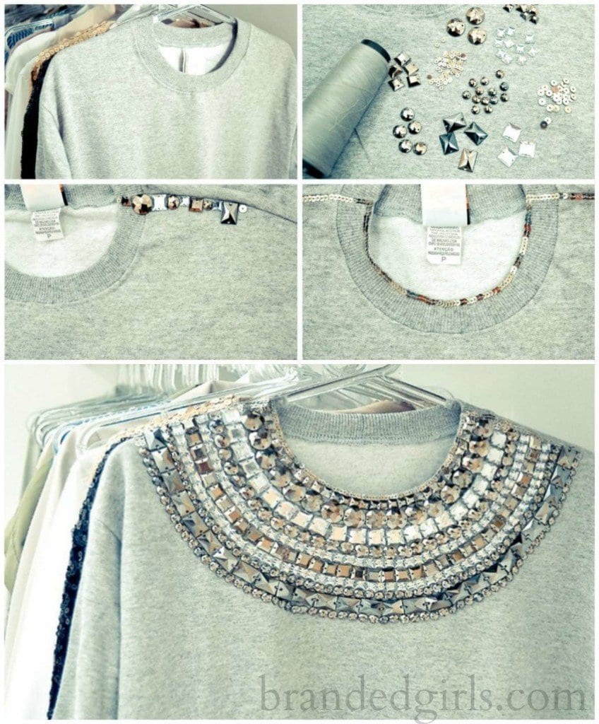 diy-stud-on-shirt-848x1024 30 Easy DIY Summer Fashion Ideas With Step by Step Tutorials