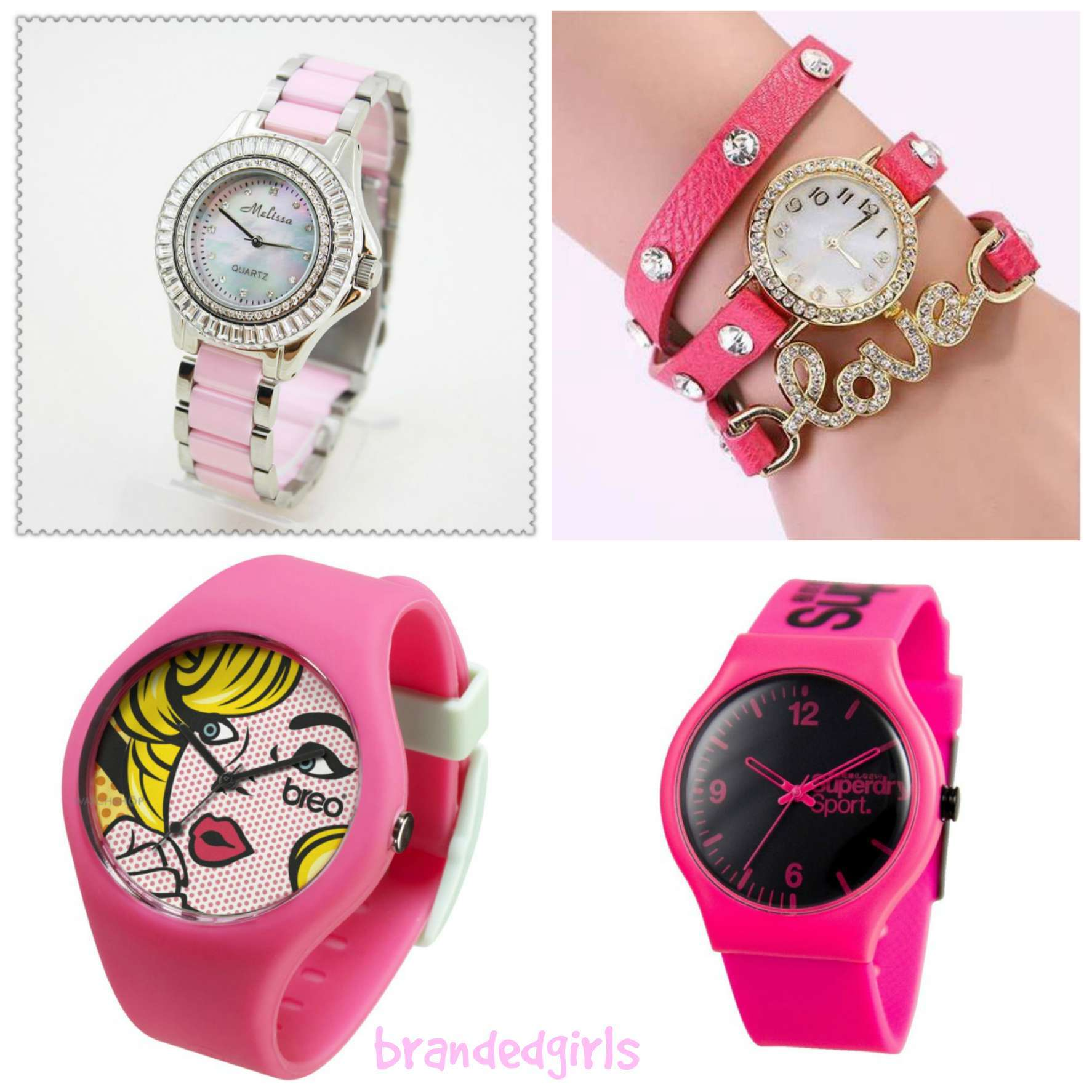 Trendy Pink Watches For Teen Girls and Kids