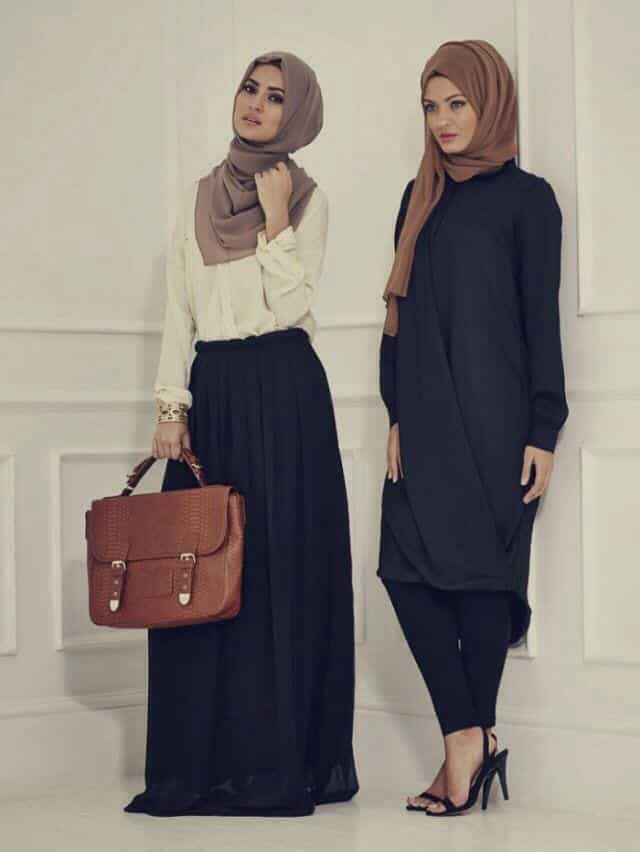 hijab-fashion-2014 Hijab Skirt outfits-24 Modest Ways to Wear Hijab with Skirts